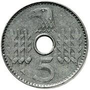 5 Reichspfennig (military coinage - Pattern) – reverse