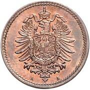 5 Pfennig - Wilhelm I (type 1 - large shield - Pattern) – obverse