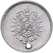 1 Pfennig - Wilhelm I (type 1 - large shield - Pattern) – reverse