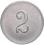 2 Pfennig - Wilhelm I (type 1 - large shield - Pattern) – reverse