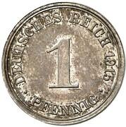 1 Pfennig - Wilhelm II (type 2 - small shield - Pattern) – reverse