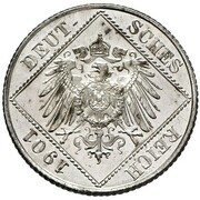 ½ Mark - Wilhelm II (type 2 - small shield - Pattern) -  obverse