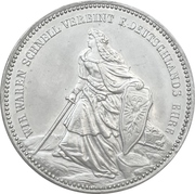 Medal - Victory over France and unification of Germany – obverse