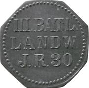 5 Pfennig - Saarlouis (III. Batl. Landw. J.R. 30) – obverse