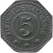 5 Pfennig - Saarlouis (III. Batl. Landw. J.R. 30) – reverse