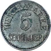 5 Pfennig (Werth-Marke; Sennelager) – obverse