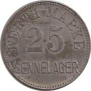 25 Pfennig (Werth-Marke; Sennelager) – obverse