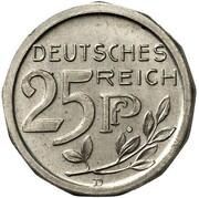 25 Pfennig - Wilhelm II (Pattern) -  obverse