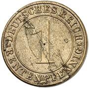1 Rentenpfennig  (Pattern) – reverse