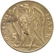 5 Reichsmark (Pattern) -  obverse