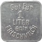 1 Liter - Zussdorf (Milchverw. Gen. Kr. Ravensburg) – reverse