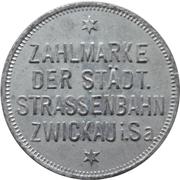 10 Pfennig - Zwickau (Zahlmarke der Städt. Strassenbahn) – obverse