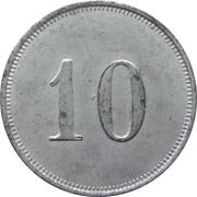 10 Pfennig - Zwickau (Zahlmarke der Städt. Strassenbahn) – reverse