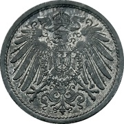 10 Pfennig - Wilhelm II (type 2 - small shield; without mintmarks) -  obverse