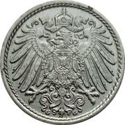5 Pfennig - Wilhelm II (type 2 - small shield) – obverse