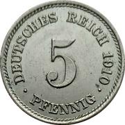 5 Pfennig - Wilhelm II (type 2 - small shield) – reverse