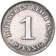 1 Pfennig - Wilhelm II (Pattern) – reverse