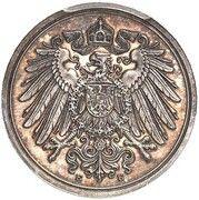 1 Pfennig - Wilhelm II (Pattern) – obverse