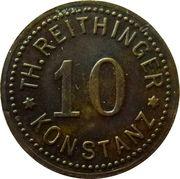 10 Pfennig - Konstanz (Th. Reithinger) – obverse