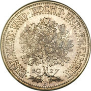5 Reichsmark -  reverse
