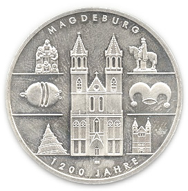 10 Euro 1200 Years Of Magdeburg Germany Federal Republic Numista