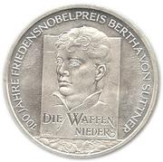 10 Euro (Bertha von Suttner) -  reverse
