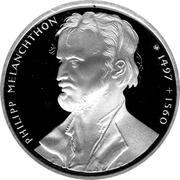 10 Deutsche Mark (Melanchthon) -  reverse