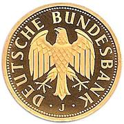 1 Deutsche Mark (Mark Retirement - Gold Proof Issue) – obverse