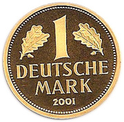 1 Deutsche Mark (Mark Retirement - Gold Proof Issue) – reverse