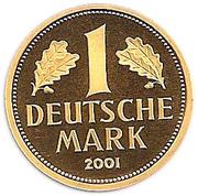 1 Deutsche Mark (Mark Retirement - Gold Proof Issue) – reverse