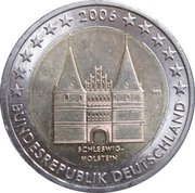 """2 Euro (Bundesländer - """"Schleswig-Holstein"""") -  obverse"""