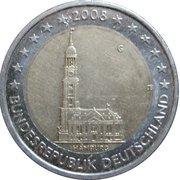 """2 Euro (Bundesländer - """"Hamburg"""") -  obverse"""