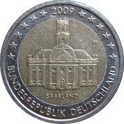"""2 Euro (Bundesländer - """"Saarland"""") -  obverse"""