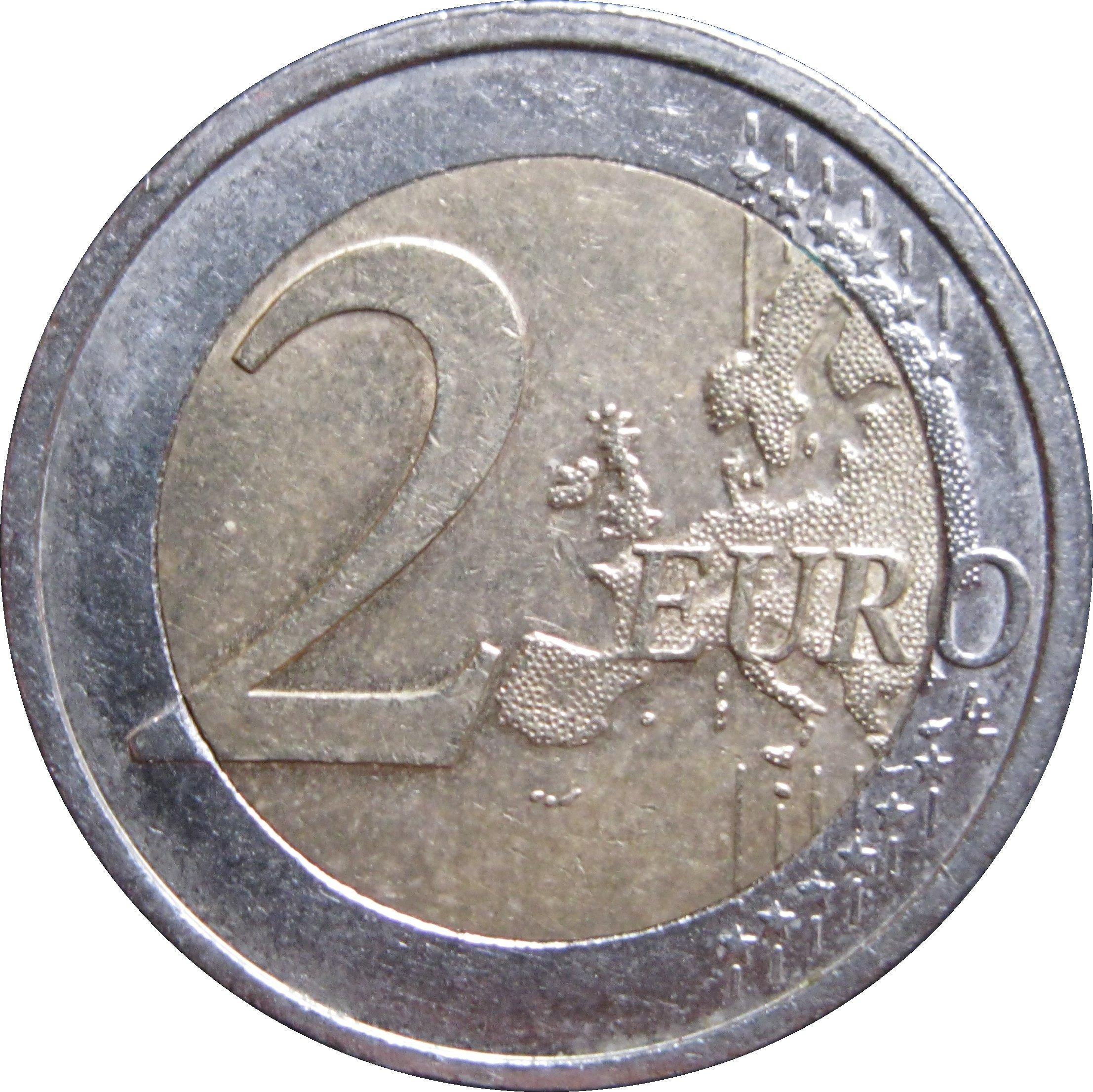 2 Euro Bundesländer Saarland Germany Federal Republic