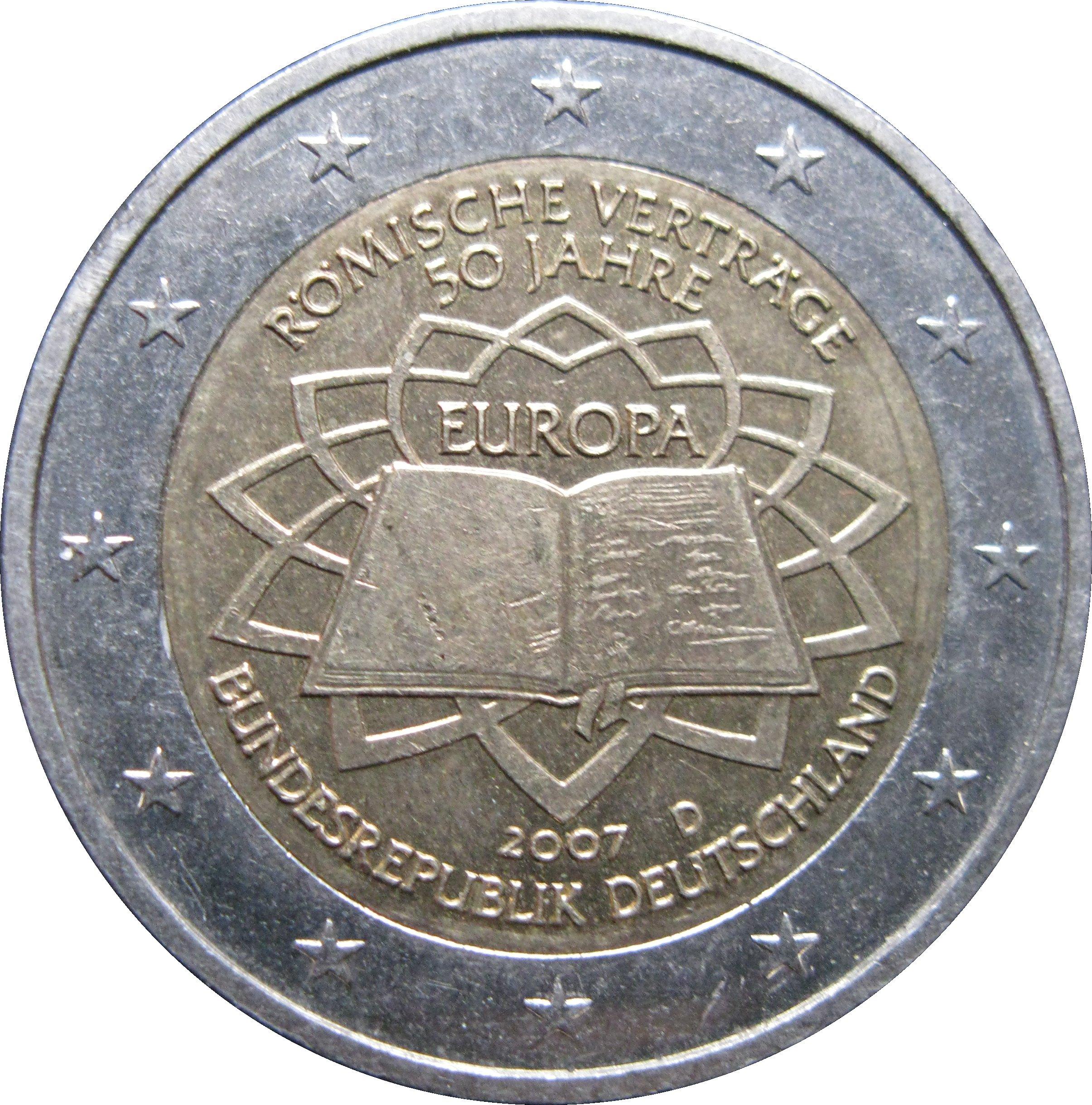 2 euro treaty of rome germany federal republic numista. Black Bedroom Furniture Sets. Home Design Ideas