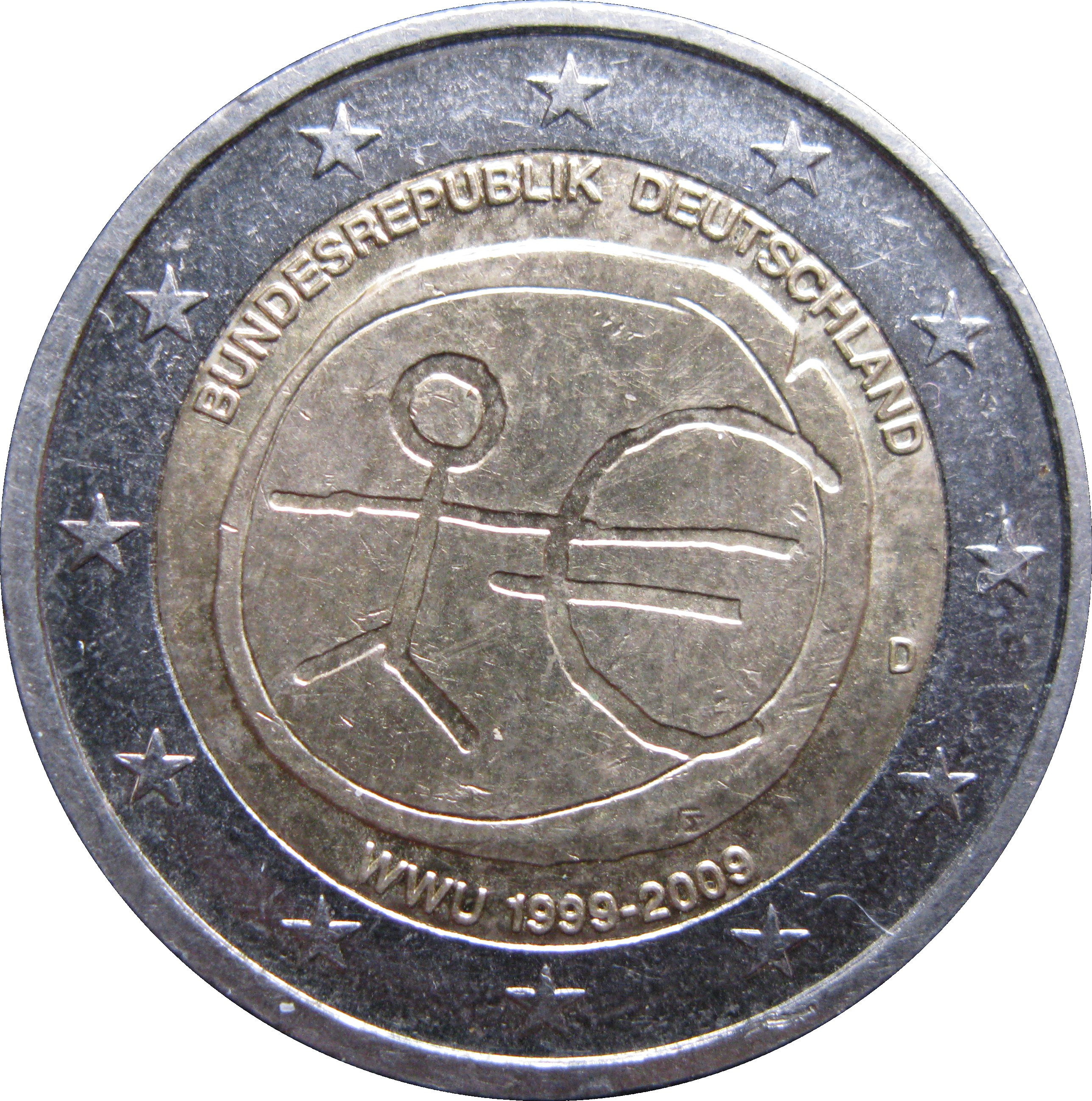 2009: 2 Euro (10 Years Of EMU)