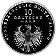 10 Deutsche Mark (50th Anniversary of the Deutsche Mark) -  obverse