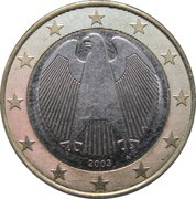 1 Euro (1st map) -  obverse