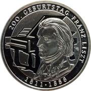10 Euro (Franz Liszt) -  reverse