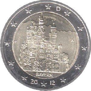 2 Euro Bundesländer Bayern Germany Federal Republic Numista