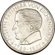 5 Deutsche Mark (Joseph von Eichendorff) – reverse