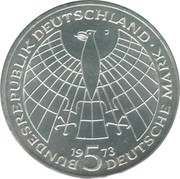 5 Deutsche Mark (Nikolaus Kopernikus) -  obverse