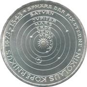 5 Deutsche Mark (Nikolaus Kopernikus) -  reverse