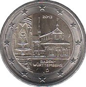 """2 Euro (Bundesländer - """"Baden-Württemberg"""") -  obverse"""