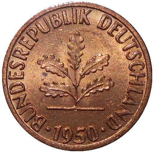 Germany 1 Pfennig oak coin cufflinks birthanniversary year 1949-1950-1966-1967-1968-1969-1970-1971-1972-1973-1974-1975-1976-1977-1978-1979