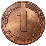 1 Pfennig -  reverse