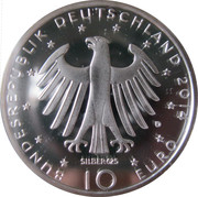 10 Euro (Richard Strauss; Silver Proof Issue) -  obverse