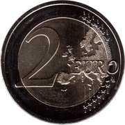 2 Euro (25 Years of German Unity) -  reverse
