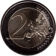 2 Euro (25 Years of German Unity) -  reverse