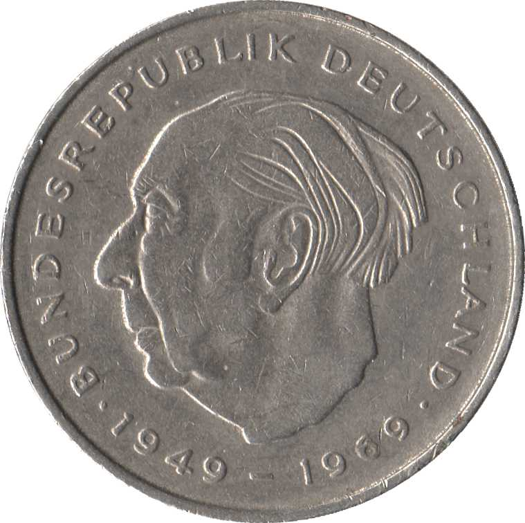 GERMANY 5 MARK 1970 P 30 AUNC